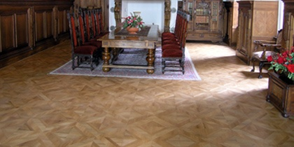 Inlaid work, Parquet flooring blocks